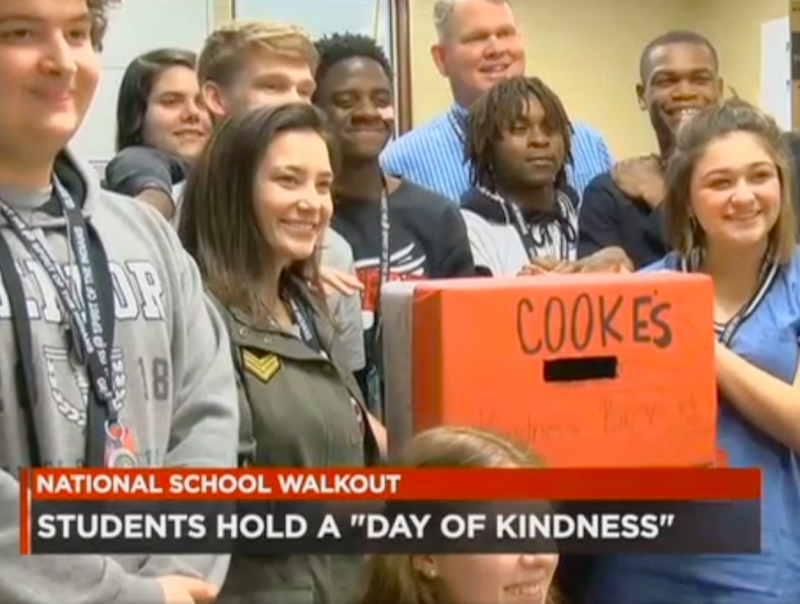 Gilbert High School Students Day Of Kindness